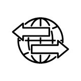 Globe Logistics Arrows Icon