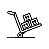 Boxes on Utility Dolly Hand Truck Icon