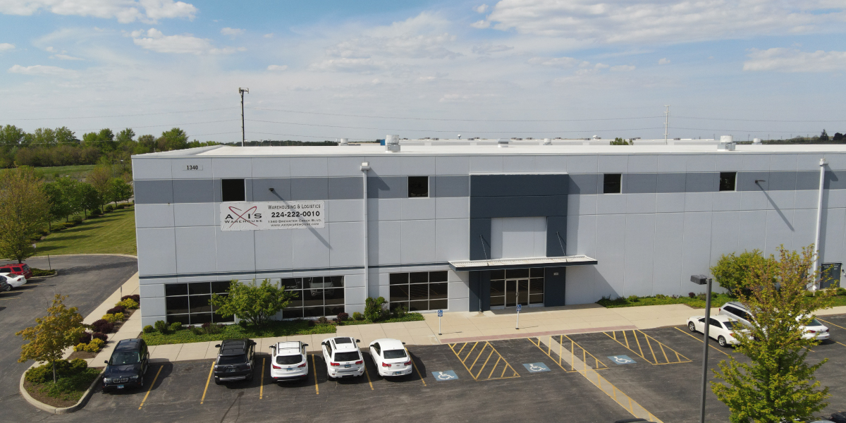 Axis Warehouse aerial view of warehouse building