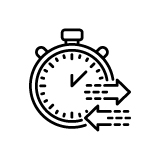 Stopwatch with Directional Arrows Icon